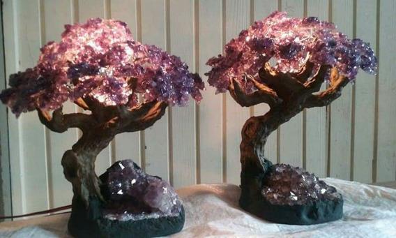 Árvore De Ametista Com Abajour