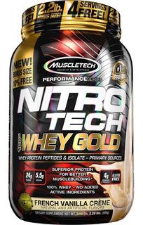 Nitro-tech 100% Whey Gold 2.2lb - Muscletech + Envío Gratis