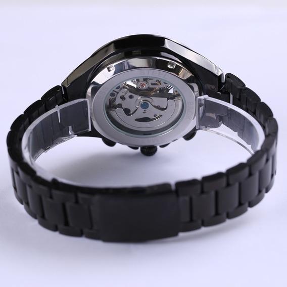 Relógio Unisex Mecânico Artesanal Maquinário Feito A Mão