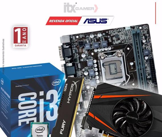 Kit I3 7100 + H110m + 8gb + 500w + Gtx 1050ti + Gabinete