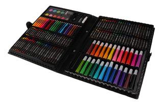 Lápices Kit 168pcs Fijar El Caso Del Dibujo Del Arte De