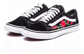 Tênis Vans Old Skool Feminino Casual Black Rose Importado