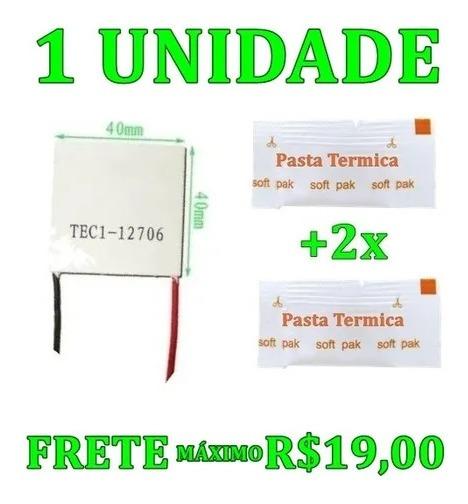 Pastilha Peltier Célula Tec1-12706 Tec112706 40mm