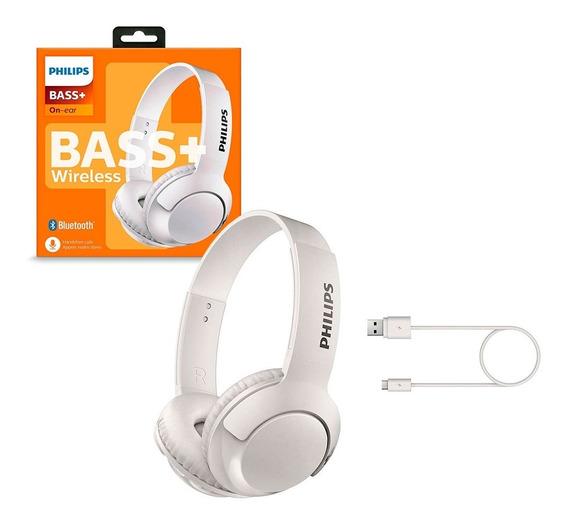 Fone De Ouvido Bluetooth Philips Shb3075wt/00 Bass+microfone