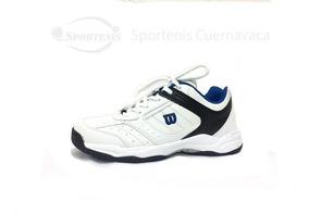 Tenis Wilson Blanco Azul Wl0540