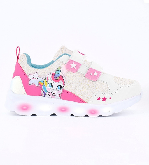 Zapatillas Unicornio Con Luces Footy Multiluces Mundo Manias