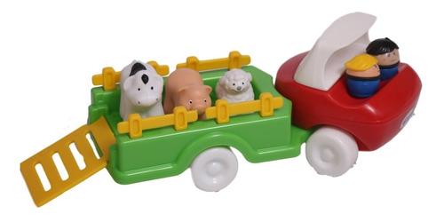 Camion Transporte Con Animales De La Granja Baby 284 E&b Edu