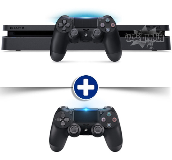 Playstation 4 Ps4 Slim 500gb 2 Controles Dualshock 4 Bivolt
