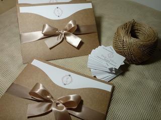 250 Convites De Casamento Jully Rústico Tam 18 X 14 Cm