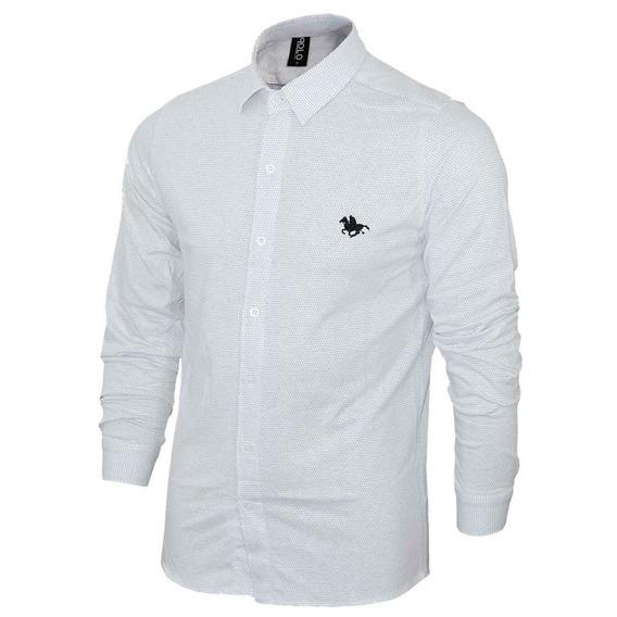 Camisa Manga Longa Com Estampa Em Pontos