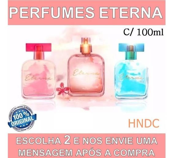 2 Perfume Linha Eterna Hinode Feminino Original 100ml