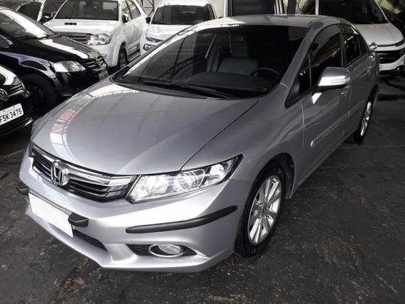 Honda Civic Lxr 2.0 Flex 2014 Prata Revisado