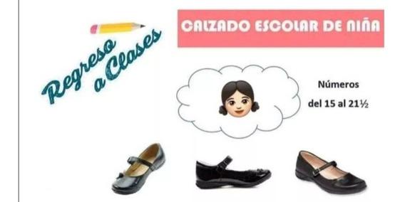 Zapato Escolar De Niña Mayoreo Lote. 10 Pares