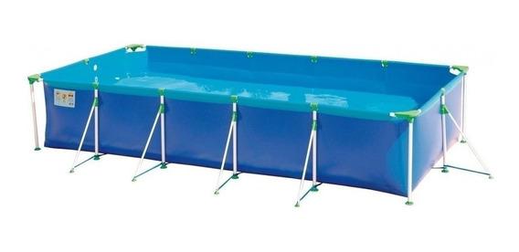 Piscina estrutural azul MOR 001026 retangular 4.42m de comprimento x 2.06m de largura