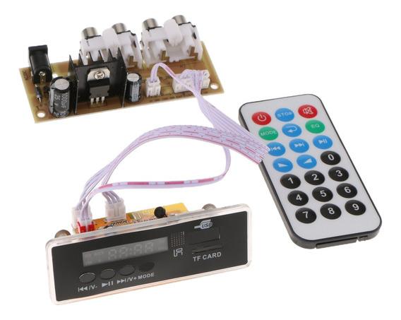 3 Peças Mp3 Decod Board Controle Remoto Módulo Bluetooth Car