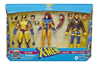 X-men Marvel Legends X 3 Figuras Articulados 15cm Hasbro