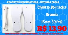 Chinelo Borracha Branca 15mm Tam 39/40 - Sublimação