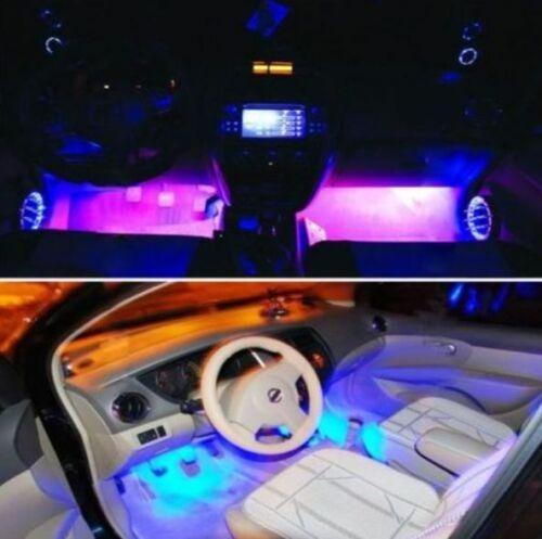 Led Neon Luz Azul Adesivo Interno - Acessórios Carro Tuning