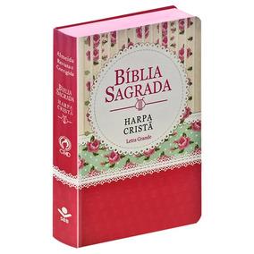 Bíblia Grande Hp Letra Grande Popular Florida Tarja Vermelha