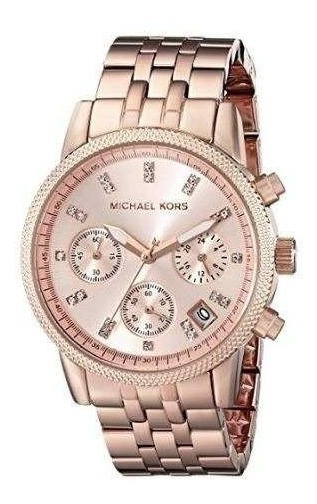 Relógio Michael Kors Mk6077 Ladies Ritz Rose Gold