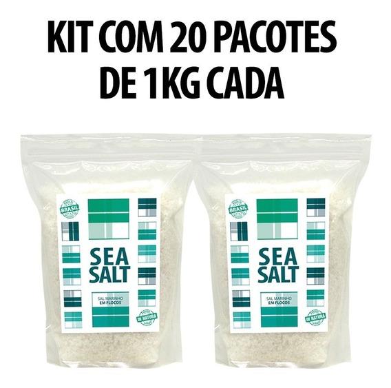 Sal Marinho De Córrego In Natura - 20 X 01 Kg (20 Kg)