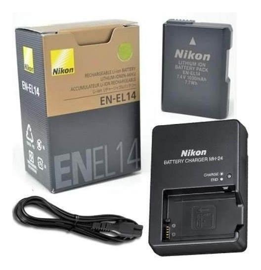 Bateria En-el14 + Carregador P/nikon D3100 D3200 D3300 D5200 D5100