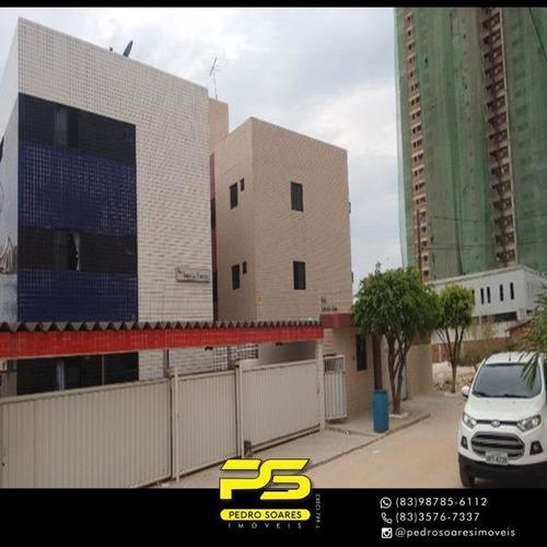 (alugo)  Apartamento Com 3 Dormitórios Para Alugar, 90 M² Por R$ 1.300/mês - Aeroclube - João Pessoa/pb - Ap4769