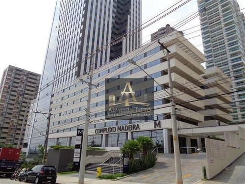 Imagem 1 de 14 de Excelente Sala Para Locação Com 60 M² No Edifício Complexo Madeira Em Alphaville  Confira! - Sa0612