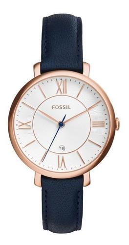 Reloj Fossil Correa Cuero Azul Es3843