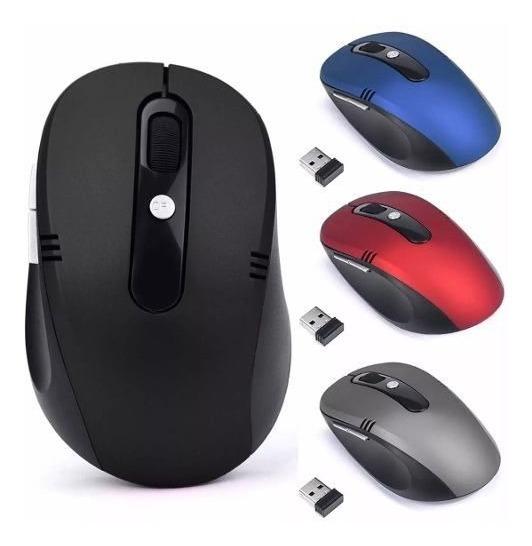 Mouse Óptico Sem Fio Wireless Para Pc E Notebook 2.4ghz