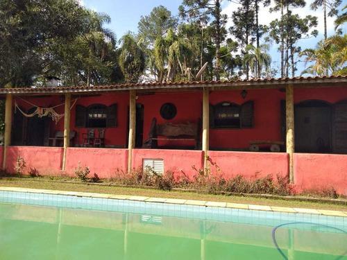 Chácara Com 25 Mil Metros Casa Sede 6 Cômodos Casa Caseiro.
