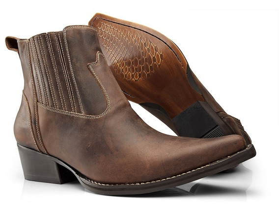 Bota Botina Country Texana Masculina Fóssil Peão Boots 7400