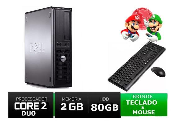 Desktop Pc Dell 320 Dual Core 1.8 Ghz 2gb 80 Gb Seminovo!