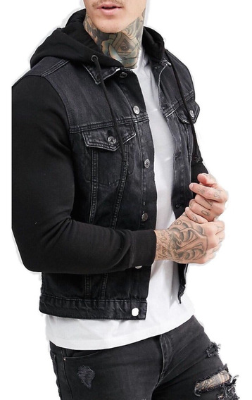 Jaqueta Premium Masculina Casaco Slim Jeans E Moletom Offert
