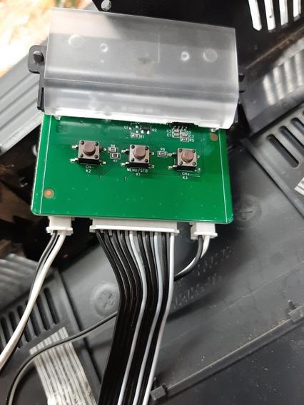 Teclado De Funções E Sensor Ir Tv Led Semp Toshiba L32s4900s
