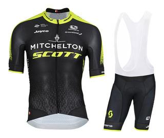 Uniforme Ciclismo Y Mtb Scott Mitchelton Tirantes Badana Gel