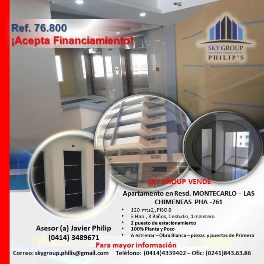 Apartamento, Resd. Montecarlos Las Chimeneas Pha-761