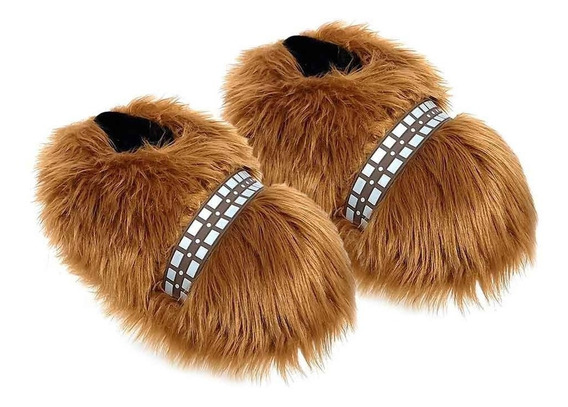 Pantufa 3d Chewbacca - Star Wars Original - Solado De Borracha