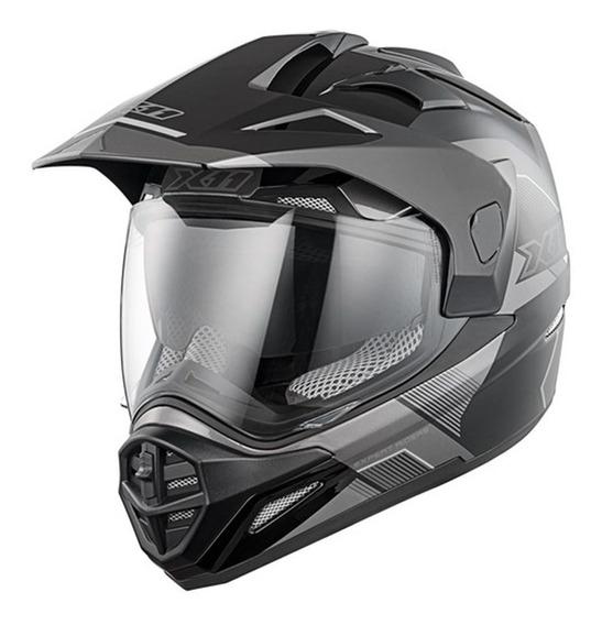 Capacete Motociclista X11 Crossover X3 Trilha Óculos A Vista