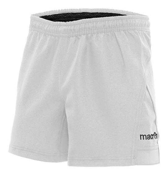 Short De Rugby Profesional- Modelo Febe- Blanco- Macron