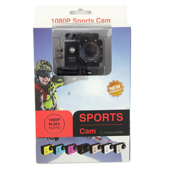 Câmera Sports Hd Dv 1.5 Full Hd Water Resistant Wi-fi