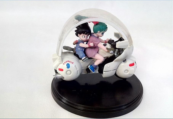 Boneco Japonês Goku E Bulma Na Moto Peça N° 20 Com 10 Cm