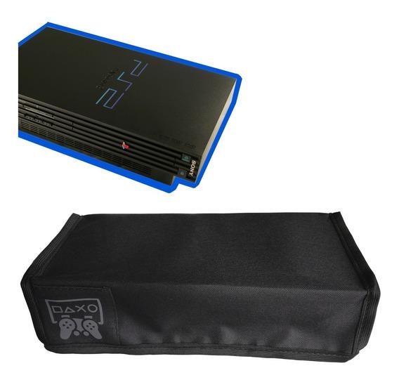Capa Ps2 Fat Antipoeira Playstation Protetora Console Case