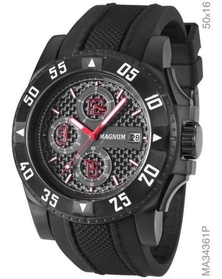 Relógio De Pulso Magnum Masculino Oversized Ma34361p