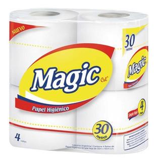 Papel Higienico 4 Rollos De 30mt Blancos $