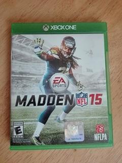 Juego Madden 15 Usado Xbox One Con Manual Completo