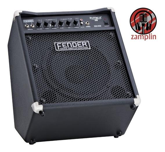 Amplificador Para Bajo 30 Watts Rumble30 Fender Ahora 18