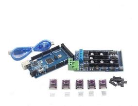 Kit Shield Ramps 1.5 + Arduino Mega + 5 Drivers Drv 8825