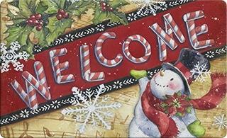 Toland Home Garden Candy Cane Muneco De Nieve 18 X 30 Pulgad