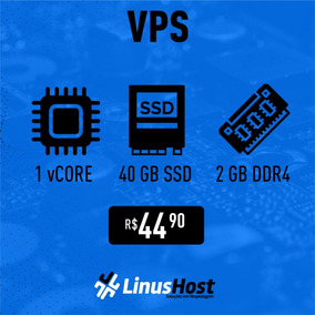 Servidor Vps Linux/windows Gamer - 1vcore/2gb Ram/40gb Nvme